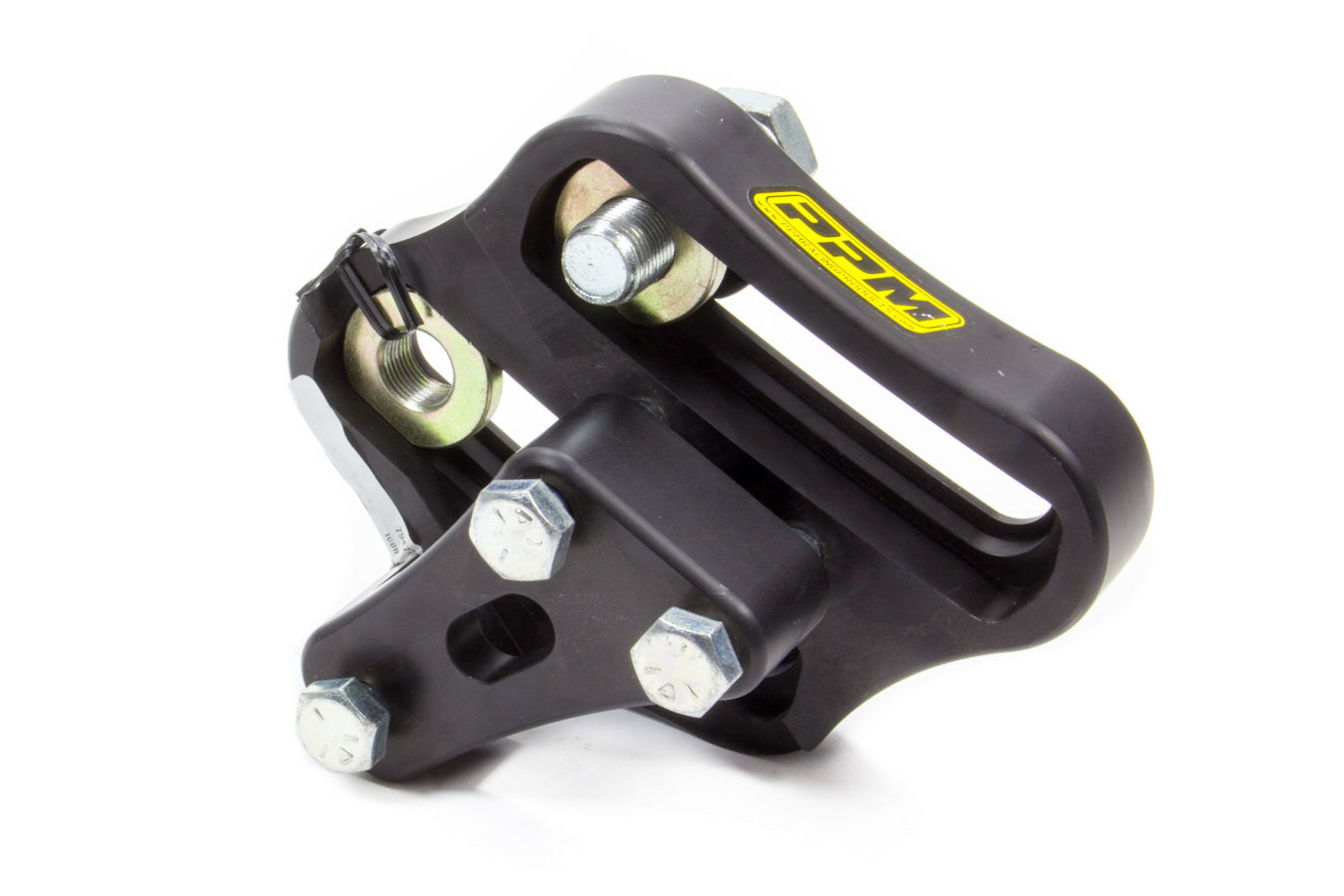 PPM Racing Components 0560-AR Panhard Bar Bracket, 2 x 2 in Mount, Bolt-On, Double Adjustable, Aluminum, Black Anodize, Each