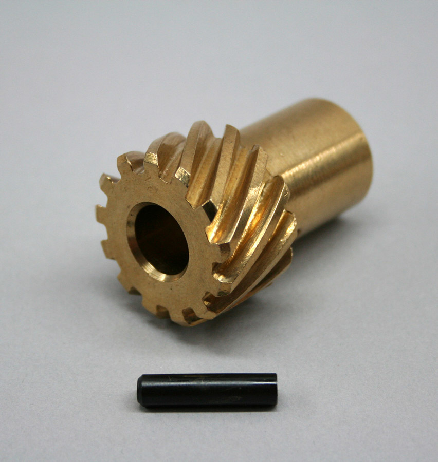 PRW Industries 0735003 Distributor Gear, 0.491 in Shaft, Reverse Rotation, Bronze, Chevy V8, Each