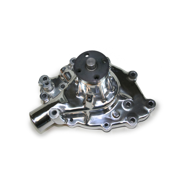PRW Industries 1428910 Water Pump, Mechanical, High Performance, 5/8 in Pilot, Aluminum, Polished, Small Block Ford 1965-69, Each