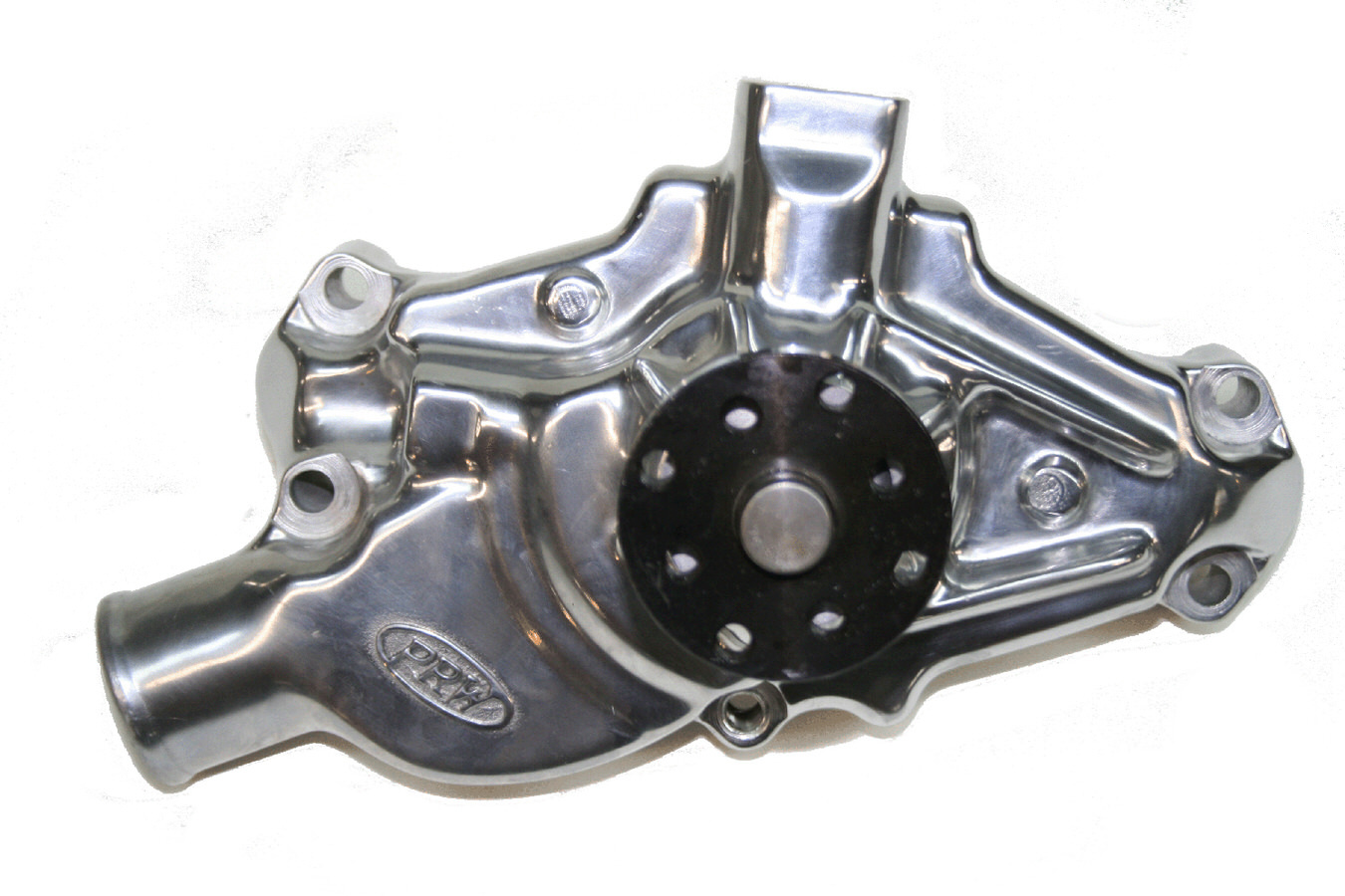PRW Industries 1435013 Water Pump, Mechanical, High Performance, 3/4 in Pilot, Short Design, Aluminum, Polished, Small Block Chevy, Each