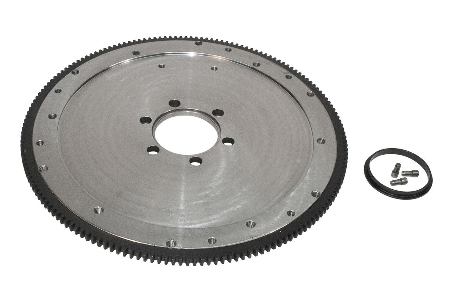PRW Industries 1645572 Flywheel, 166 Tooth, 30.35 lb, SFI 1.1, Steel, Internal Balance, 2 Piece Seal, Pontiac V8, Each