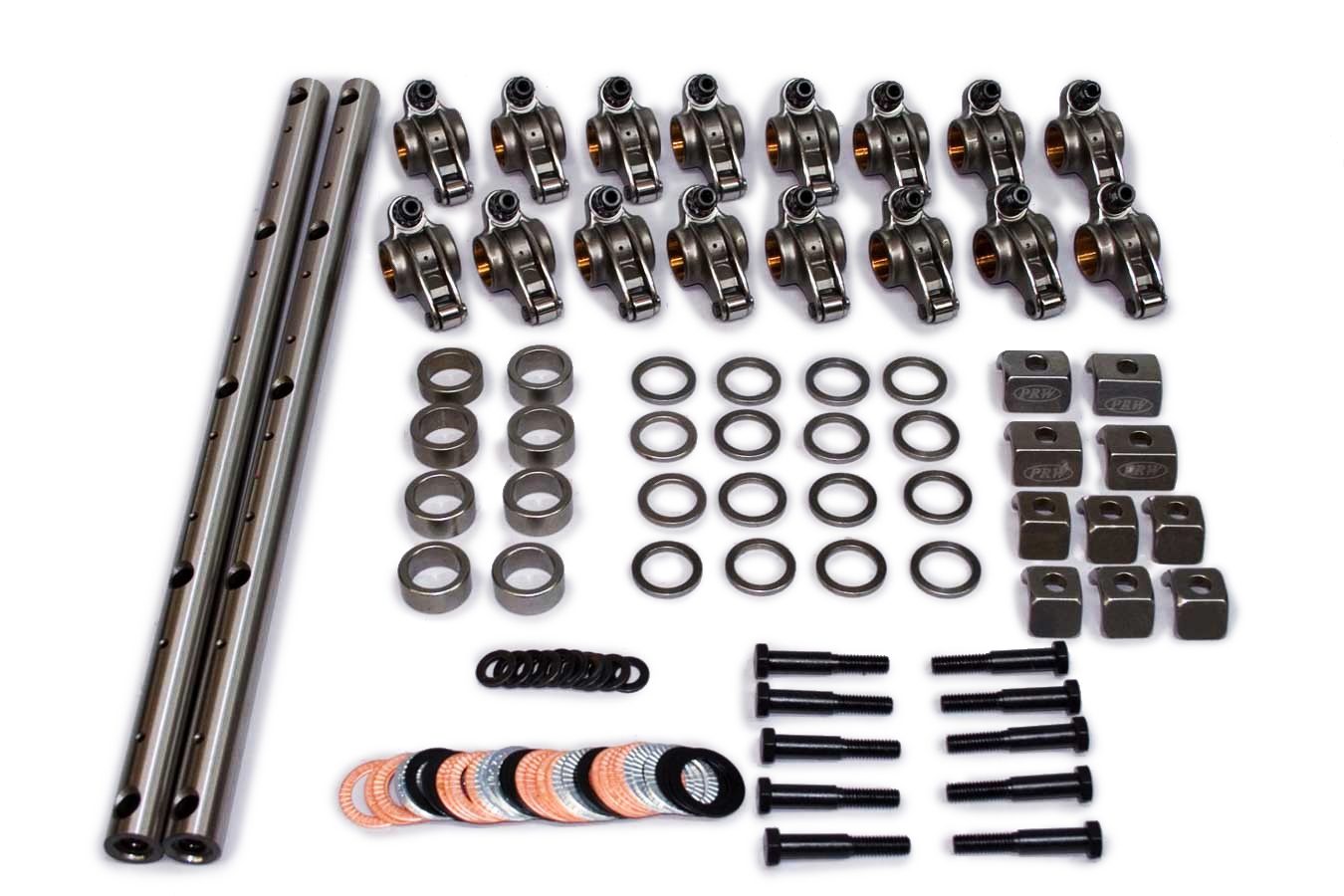 PRW Industries 3244013 Rocker Arm, Shaft Mount, 1.70 Ratio, Roller Tip, Steel, Natural, Mopar B / RB Series, Kit