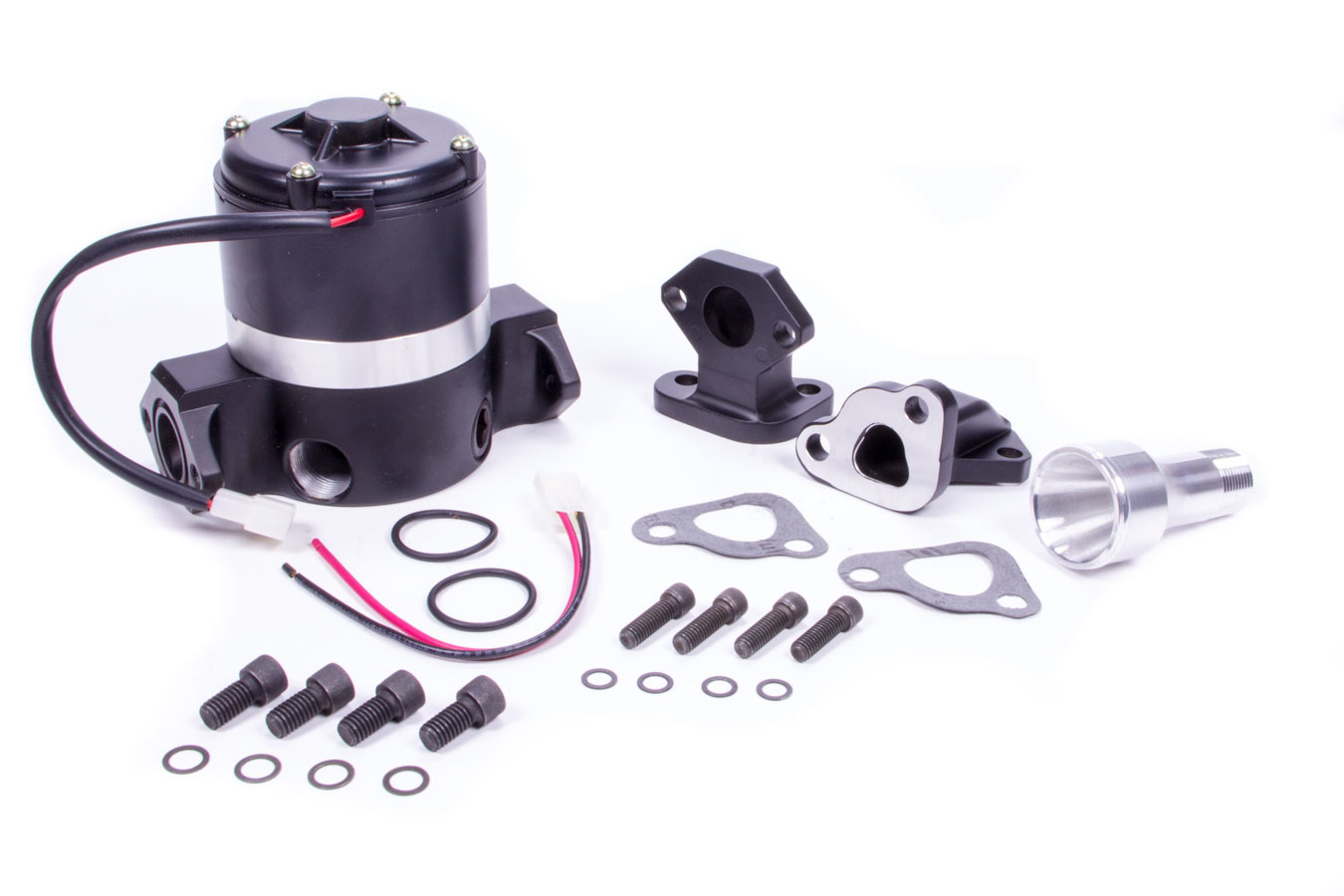 Meziere WP345S Black HiFlow Electric Water Pump for Ford