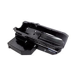 Pro Cam 9137-A6N Engine Oil Pan, Oval Track, Rear Sump, 7 qt, 6-1/2 in Deep, Narrow, Steel, Black Paint, Small Block Chevy, Each