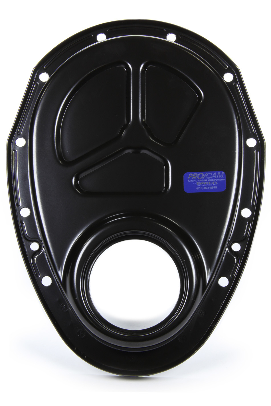 Pro Cam 9503 Timing Cover, 1 Piece, Steel, Black Paint, Big Block Snout, Small Block Chevy, Each