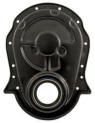Pro Cam 9520-S Timing Cover, 1 Piece, Steel, Black Paint, Big Block Chevy, Each