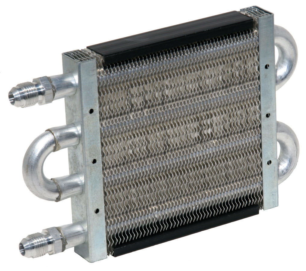 Perma Cool 1009 Fluid Cooler, 3/4 x 5 x 7-1/2 in, Tube Type, 6 AN Male Inlet / Outlet, Aluminum, Natural, Power Steering, Each