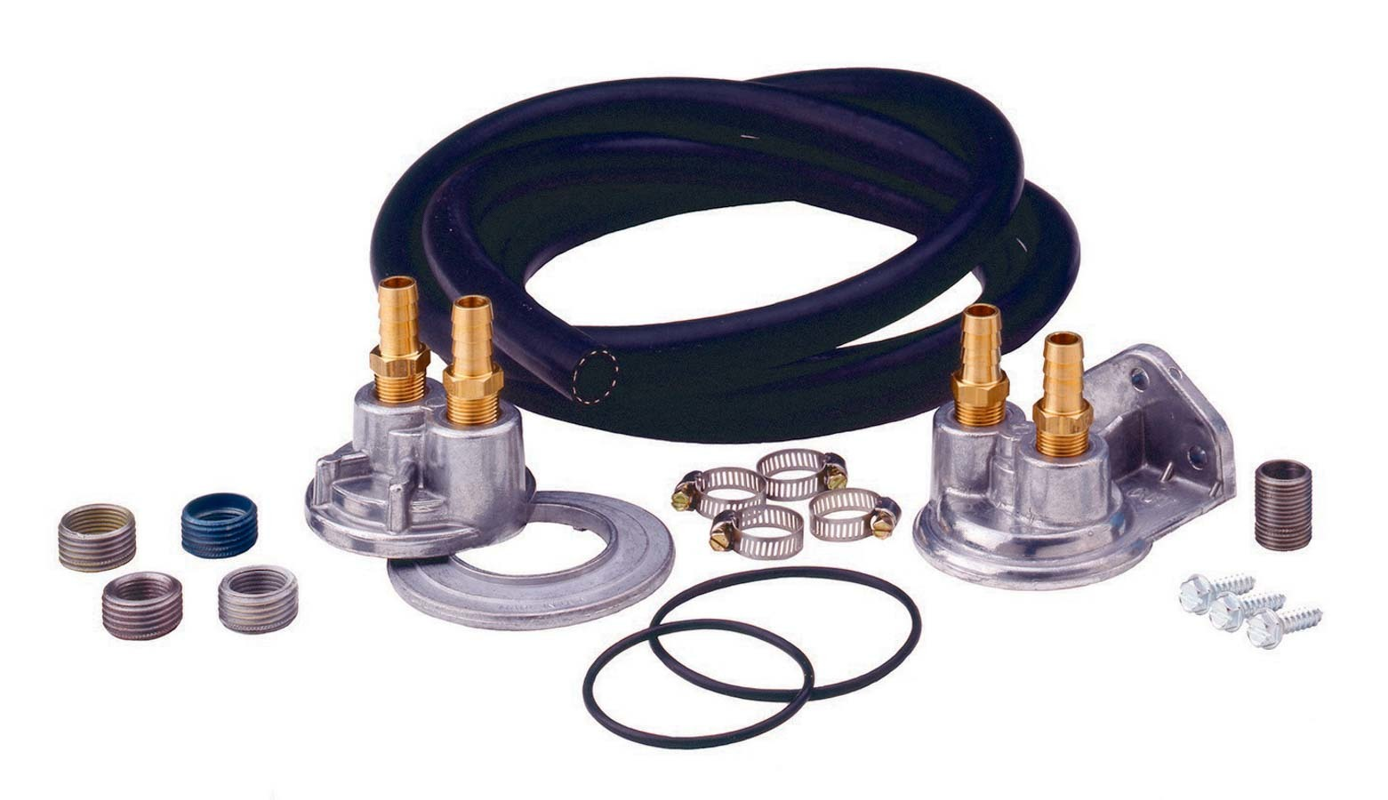 Perma Cool 10695 Remote Oil Filter, Single Filter, Various Thread Adapters, 8 ft Hose, 3/4-16 in Thread Housing, Fittings / Hardware, Universal, Kit