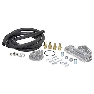 Perma Cool 10756 Remote Oil Filter, Dual Filter, 1-16 in Thread Adapter, 8 ft Hoses, 3/4-16 in Thread Housing, Fittings / Hardware, Dodge Cummins, Kit