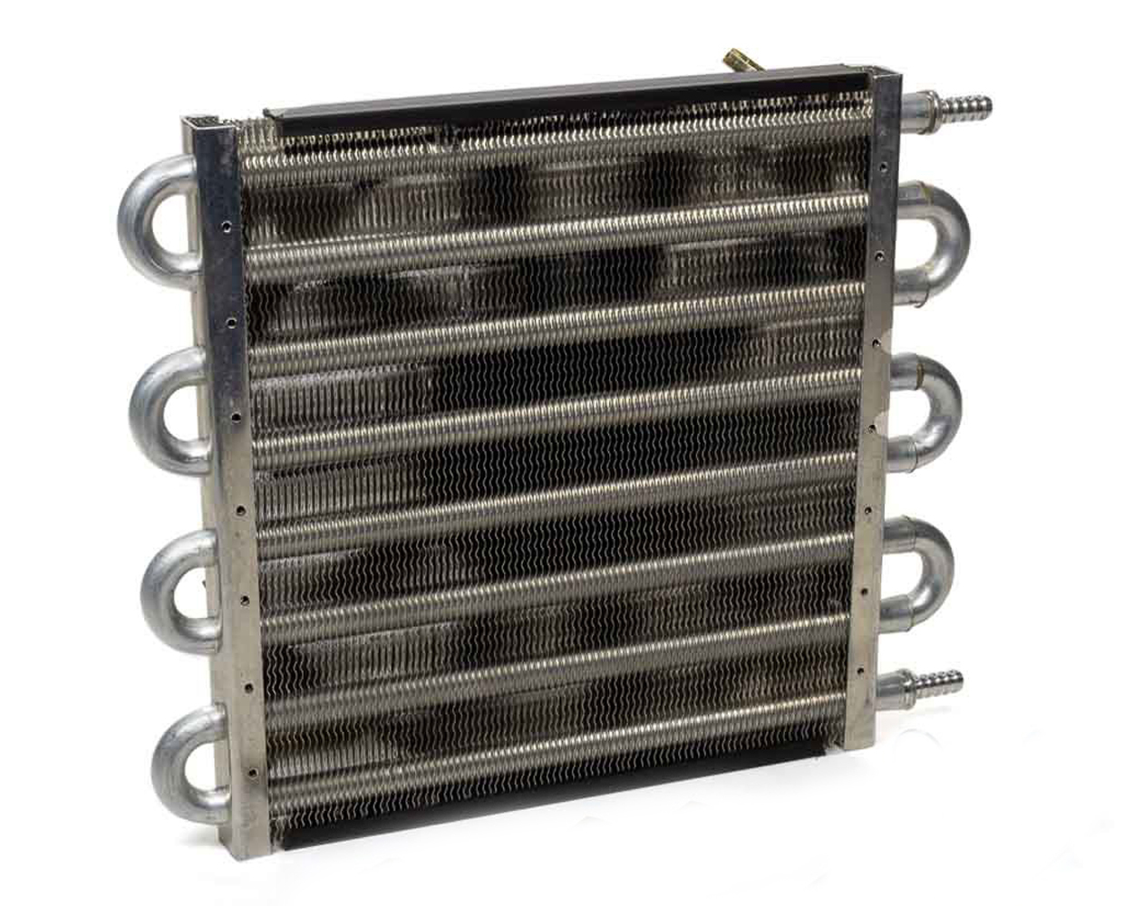 Perma Cool 12511 Fluid Cooler and Fan, Maxi-Cool Jr, 8 Pass, 12-1/2 x 10 x 3 in, Tube Type, 11/32 in Hose Barb Inlet / Outlet, Fittings / Hardware, 10 in Fan, Aluminum, Natural, Universal, Each