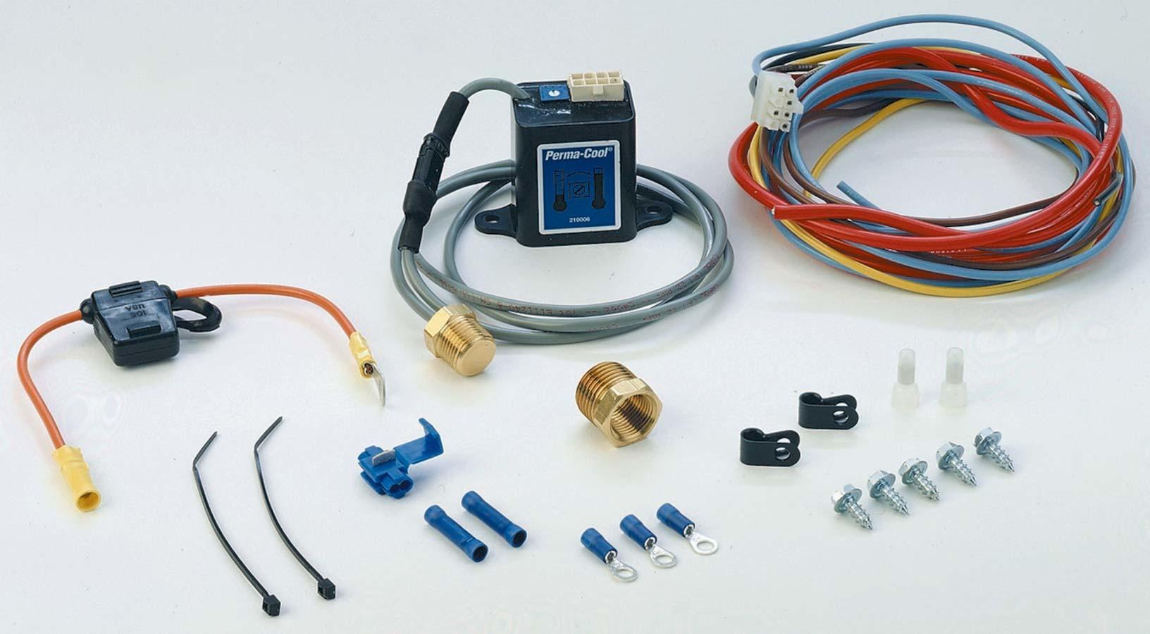 Elec. Fan Wiring Kit Adjustable Screw In