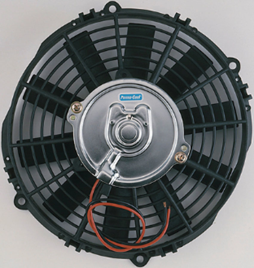 Perma Cool 19129 Electric Cooling Fan, Standard, 9 in Fan, Push / Pull, 2400 CFM, 12V, Straight Blade, 8-1/4 x 8 in, 2-1/4 in Thick, Plastic, Each