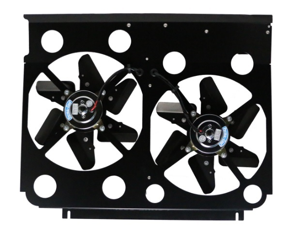 Perma Cool 19513 Electric Cooling Fan, Cool-Pack, Dual 13 in Fan, Puller, 5900 CFM, Paddle Blade, 28-1/2 x 19 in Tall, Aluminum, GM Fullsize SUV / Truck 1981-91, Kit