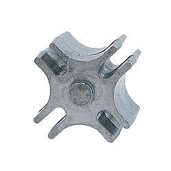 Perma Cool 24250 Fan Spacer, Universal System, 2-1/2 in Thick, Bushings / Hardware, Aluminum, Polished, 5/8 in Pilot Fans, Each