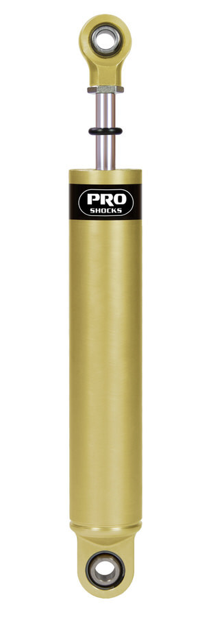 Pro Shock A653B Shock, A Series, Twintube, 11.50 in Compressed / 17.50 in Extended, 2.00 in OD, 5-3 Valve, Smooth Aluminum, Gold Anodize, Each