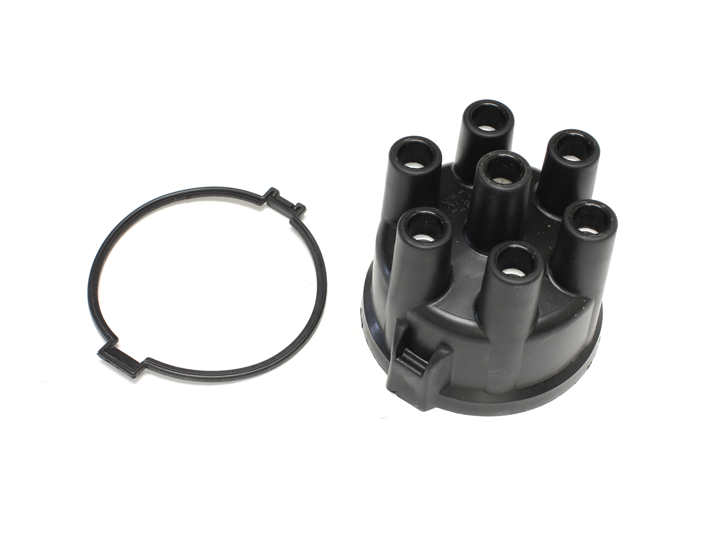 Pertronix Ignition 022-1602 Distributor Cap, HEI Style Terminals, Stainless Terminals, Clamp Down, Black, Non-Vented, Pertronix Industrial 6-Cylinder Distributors, Each