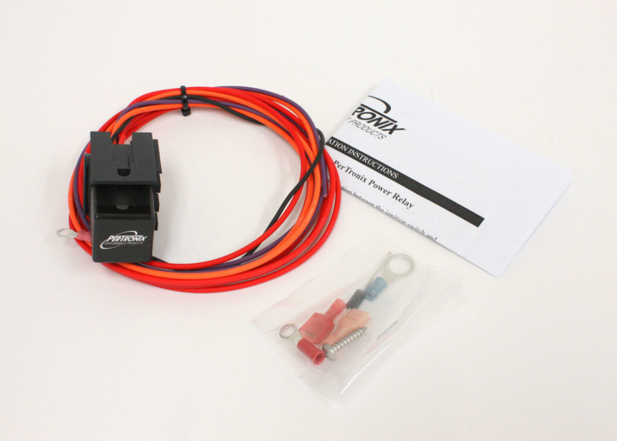 Pertronix Ignition 2001 Relay Switch, 30 amp, 12/16V, Wiring Harness included, Universal, Kit