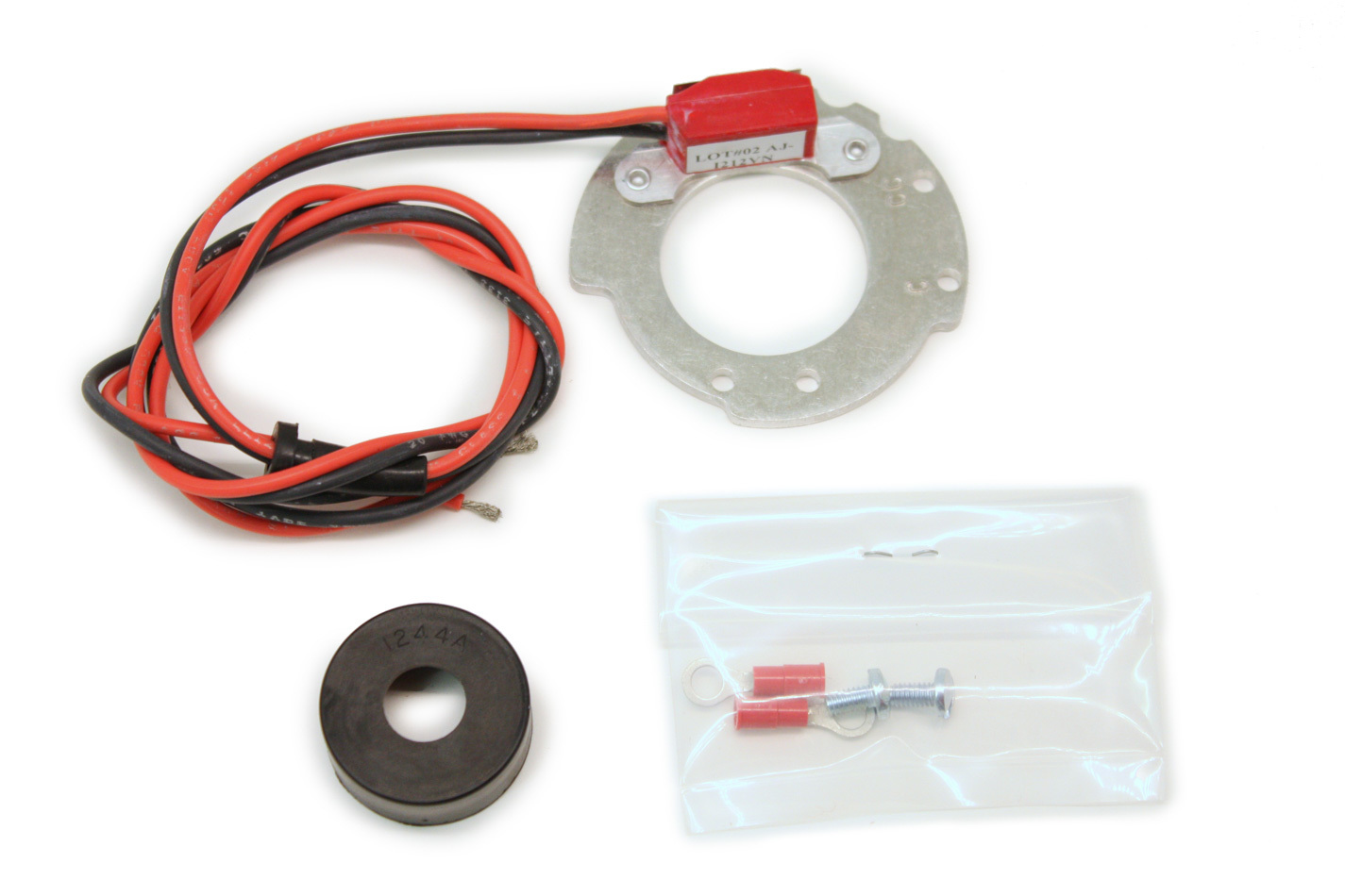 Pertronix Ignition 91244A Ignition Conversion Kit, Ignitor II, Points to Electronic, Magnetic Trigger, Ford 4-Cylinder, Kit