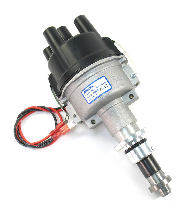 Pertronix Ignition D41-01A Distributor, Industrial, Hall Effect, Mechanical Advance, Socket Style Terminal, Black, Waukesha 4 Cylinder, Each