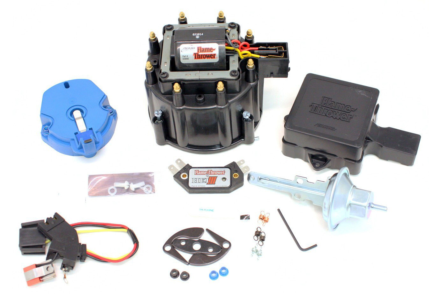 Pertronix Ignition D78000 Ignition Tune Up Kit, Flamethrower, HEI, Cap / Rotor / Coil / Coil Cover / Vacuum Lock Out / Wiring Harness, Small Block Chevy, Kit