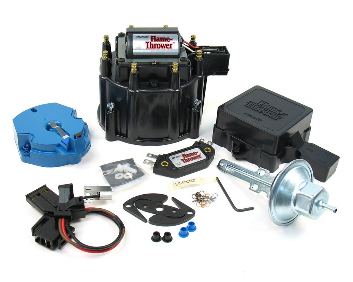 Pertronix Ignition D8010 Distributor Tune Up Kit, Cap / Coil / Module / Rotor / Vacuum Advance / Vacuum Canister, Black, Chevy / Buick / Oldsmobile / Pontiac V8, Kit