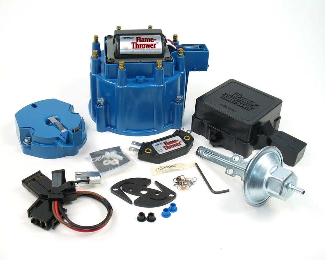 Pertronix Ignition D8012 Distributor Tune Up Kit, Cap / Coil / Module / Rotor / Vacuum Advance / Vacuum Canister, Blue, Chevy / Buick / Oldsmobile / Pontiac V8, Kit
