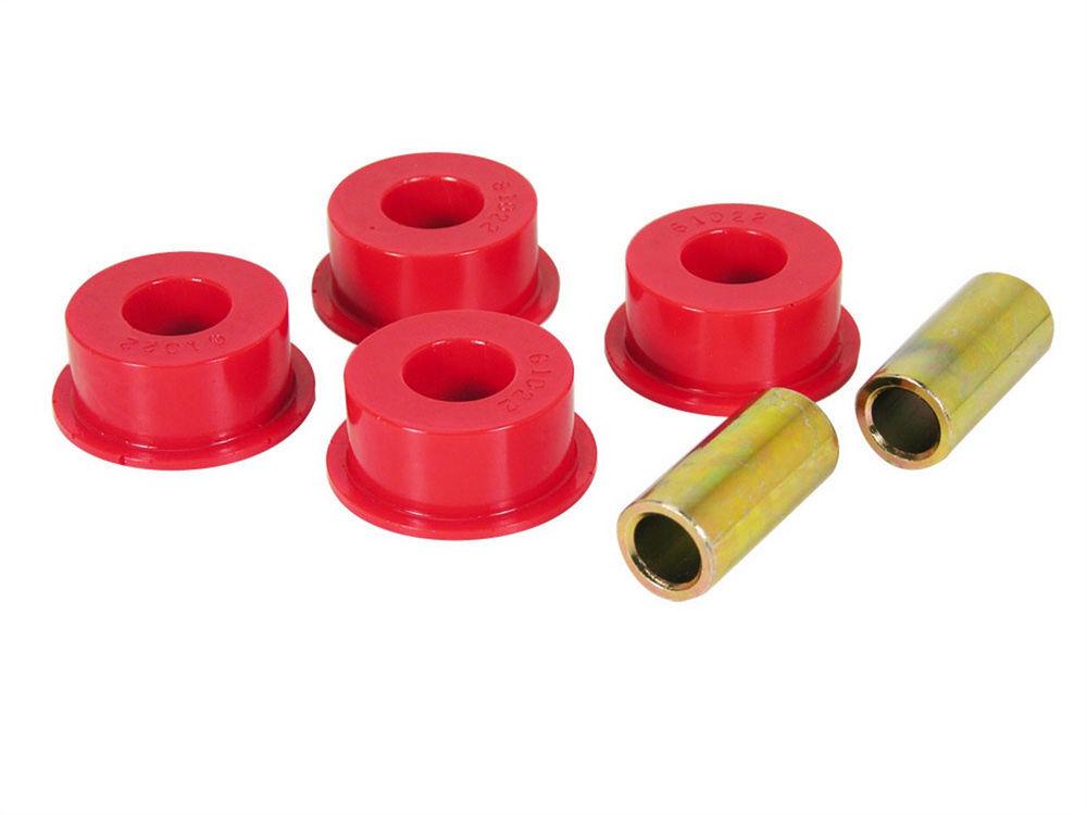 Prothane 1-1202 Track Bar Bushing, Front / Rear, Polyurethane / Steel, Cadmium / Red, Jeep 1984-2006, Kit