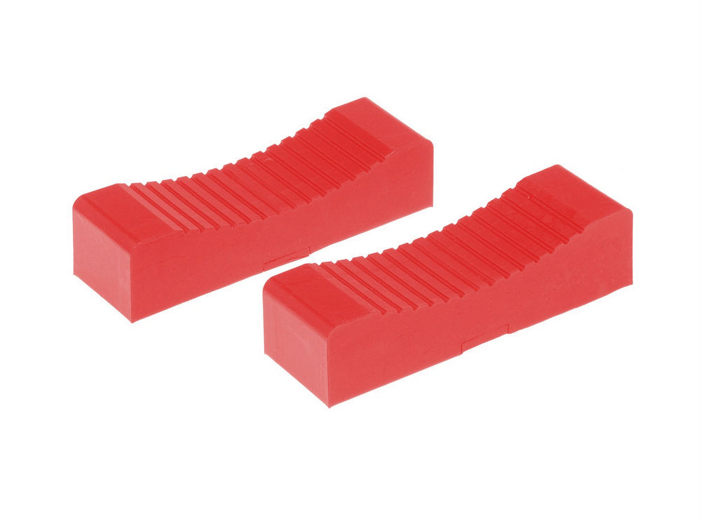 Prothane 19-1413 Jack Stand Pad, Polyurethane, Red, 1-1/2 x 6 in Head, Pair