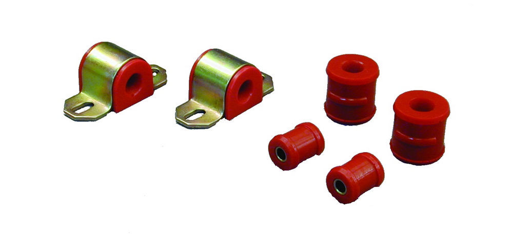 Prothane 7-1124 67-81 Sway Bar Bushing, Rear, Non-Greaseable, 3/4 in Bar, End Link Bushings Included, Polyurethane / Steel, Red / Cadmium, GM F-Body 1967-81, Kit