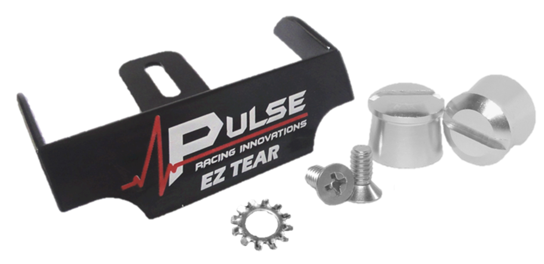 Pulse Racing Innovations EZTS102BKP Helmet Tear Off Ramp, Adjustable, Silver Aluminum Post Included, Black, Each