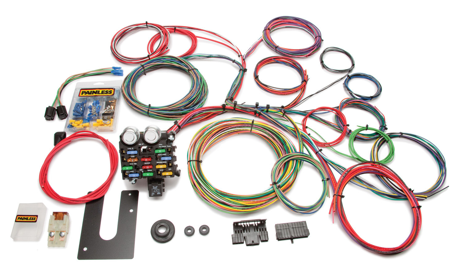Painless Wiring 10102 Car Wiring Harness, Classic Customizable, Complete, 21 Circuit, Complete, Universal, Kit