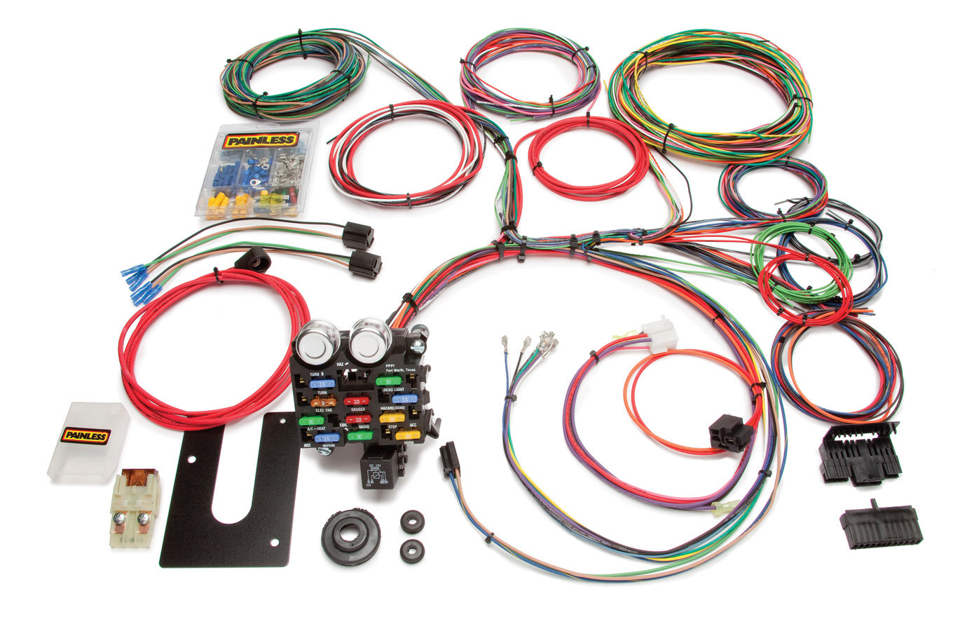 Painless Wiring 10103 Car Wiring Harness, Classic Customizable Pickup, 21 Circuit, Complete, Universal, Kit