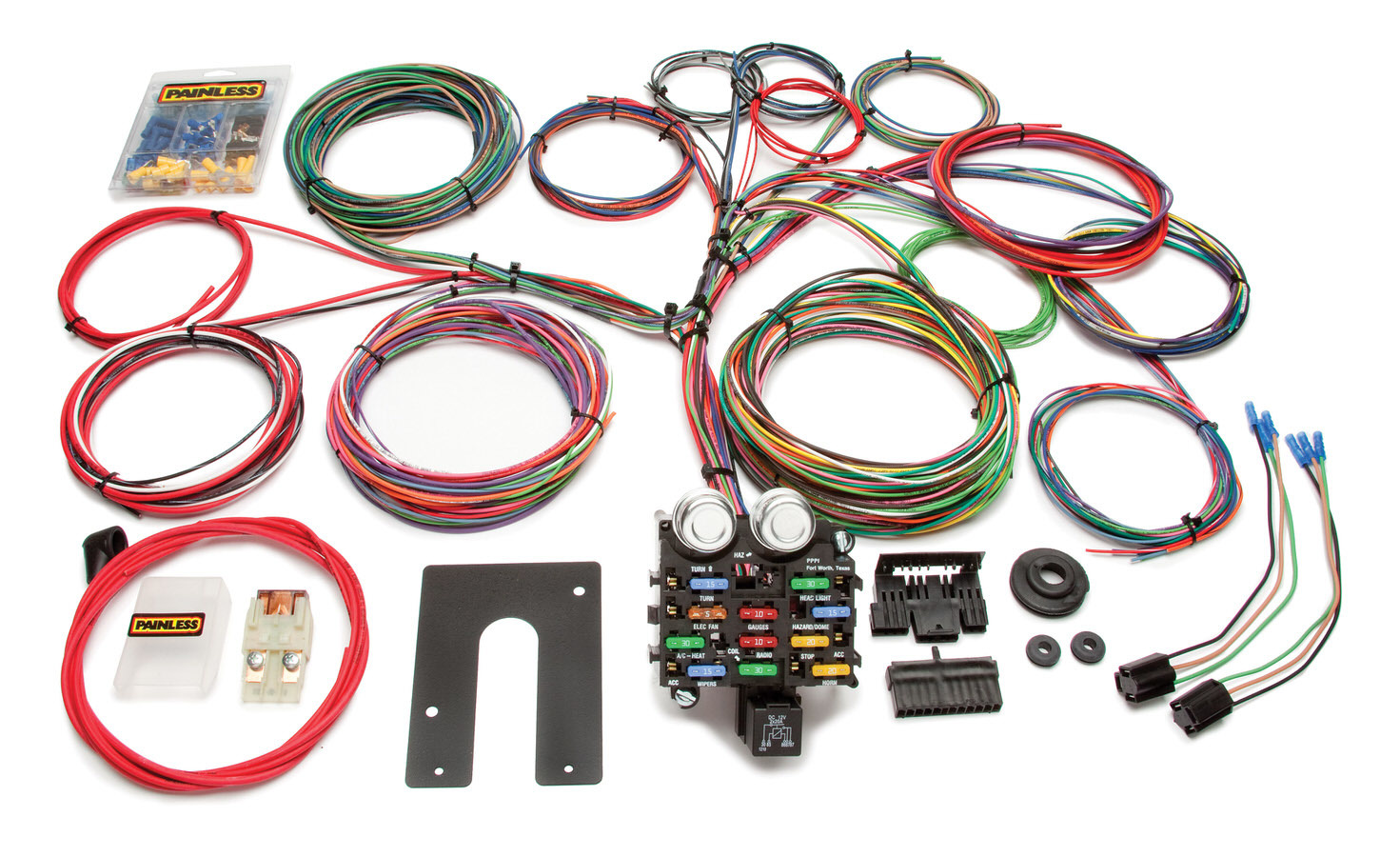 Painless Wiring 10104 Car Wiring Harness, Classic Customizable Pickup, 21 Circuit, Complete, Universal, Kit