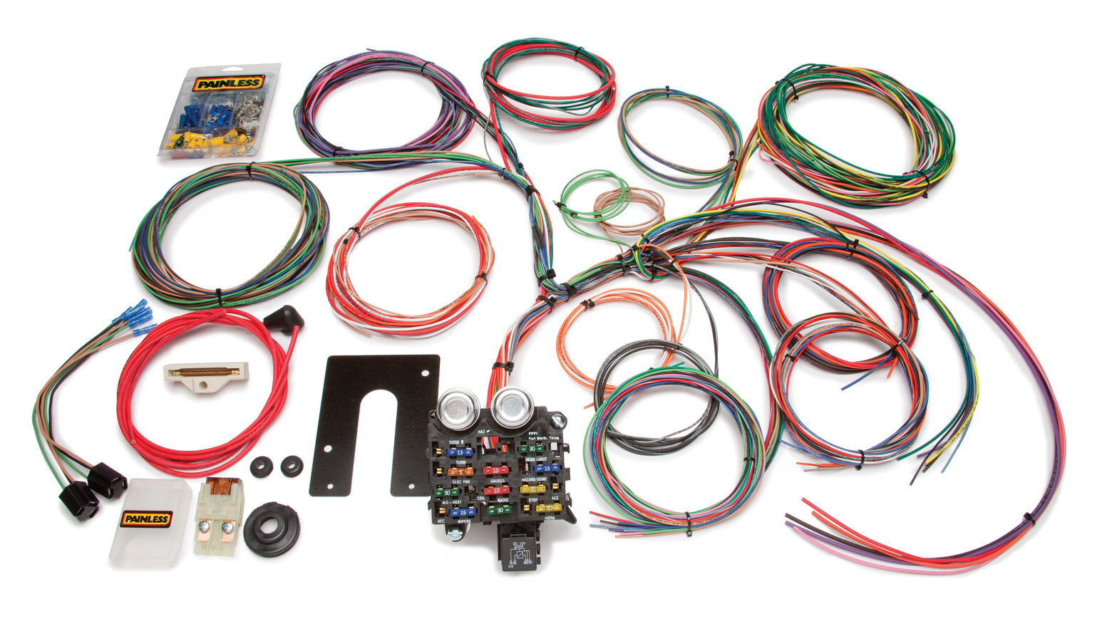 Painless Wiring 10105 Car Wiring Harness, Classic Customizable, Complete, 22 Circuit, Complete, Jeep CJ 1944-75, Kit