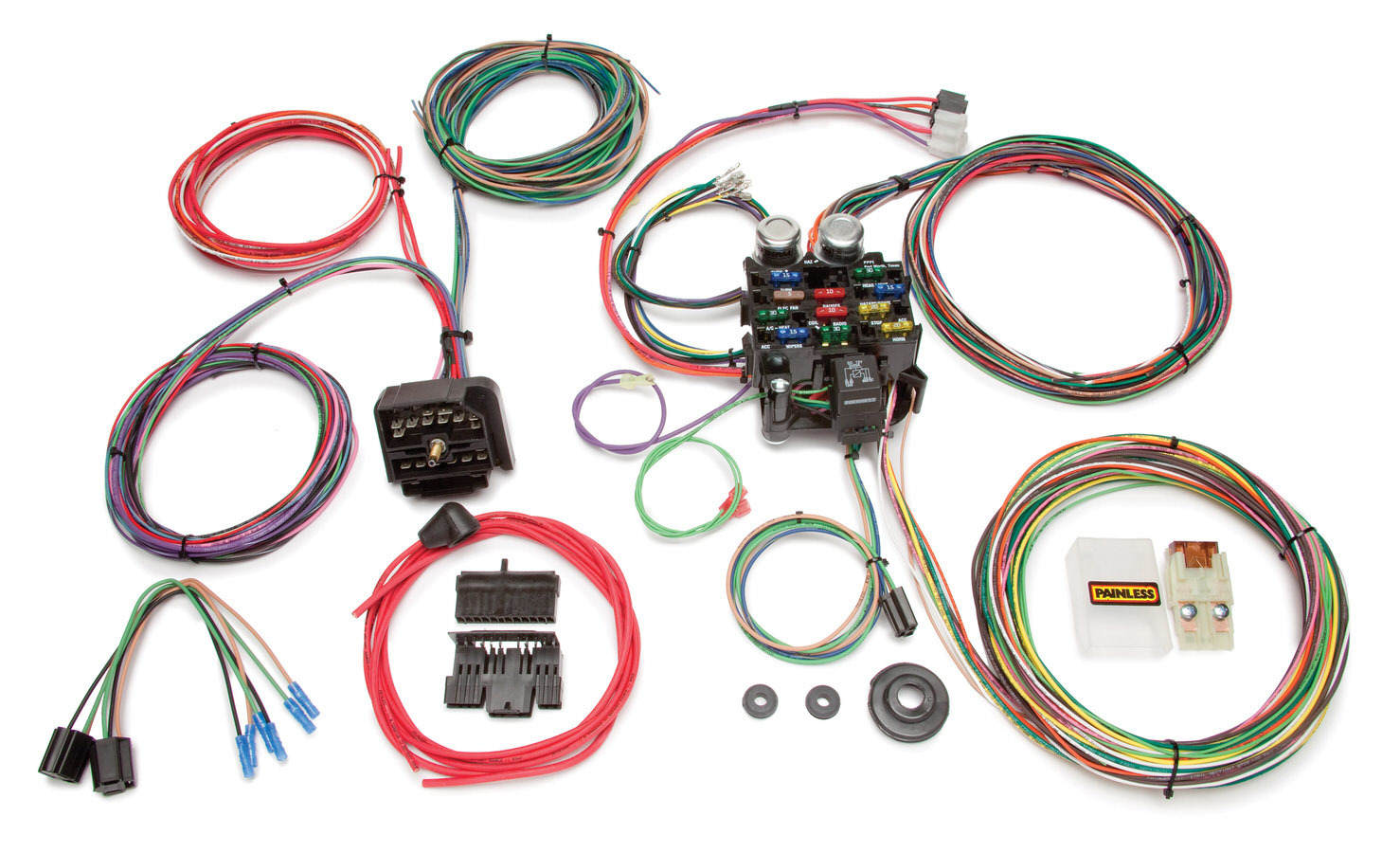 Painless Wiring 10106 Car Wiring Harness, Classic Customizable, Complete, 22 Circuit, Complete, Jeep CJ 1976-86, Kit
