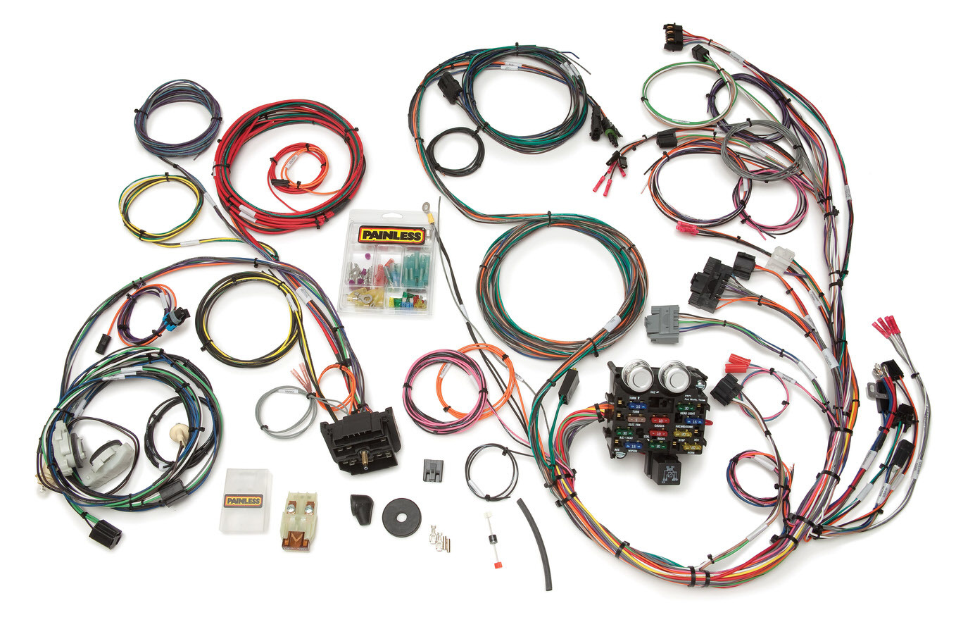 Painless Wiring 10111 Car Wiring Harness, Direct Fit, Complete, 23 Circuit, Jeep YJ 1987-91, Kit
