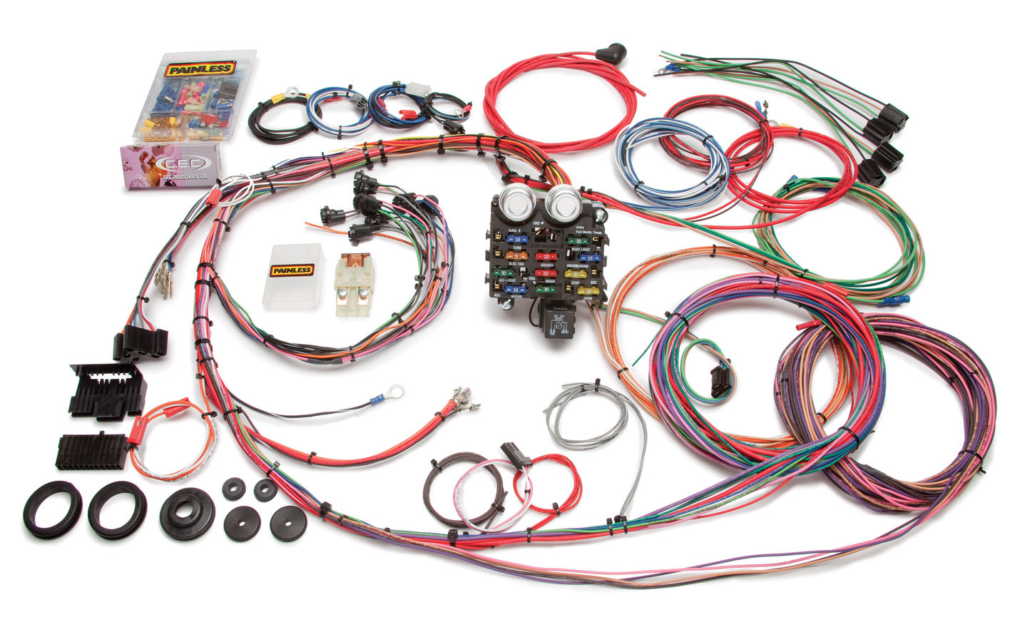 Painless Wiring 10112 Car Wiring Harness, Chassis, Complete, 19 Circuit, GM Fullsize Truck 1963-66, Kit