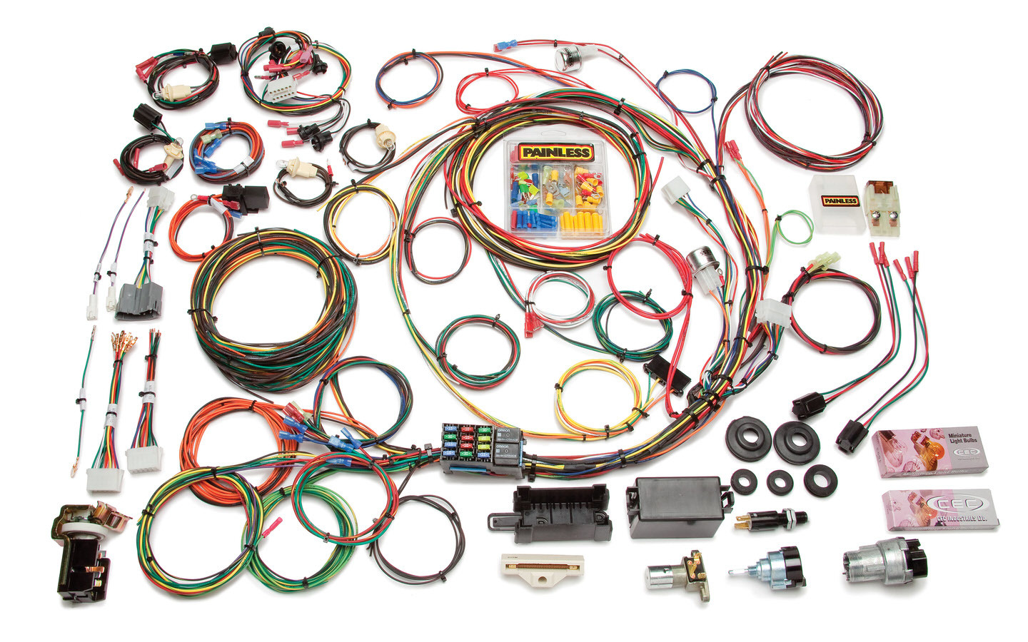 Painless Wiring 10118 Car Wiring Harness, Direct Fit, Complete, 21 Circuit, Switches, Ford Fullsize Truck 1967-77, Kit
