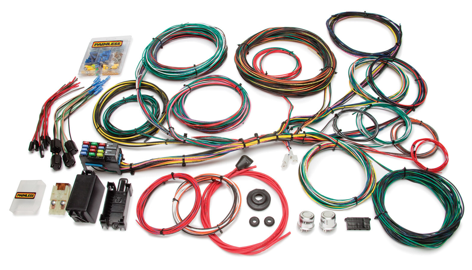 Painless Wiring 10123 Car Wiring Harness, Customizable, Complete, 21 Circuit, Ford, Kit