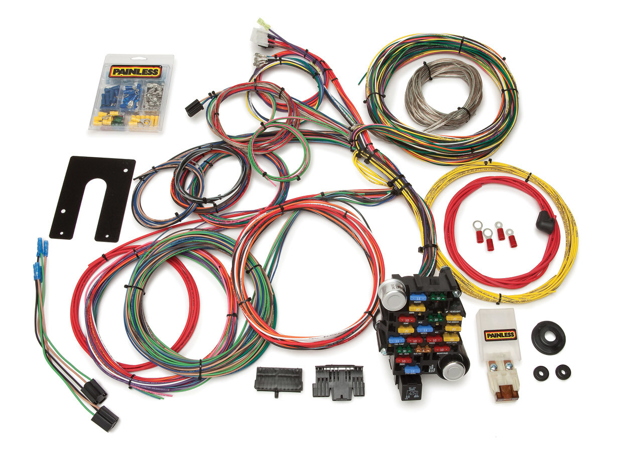 Painless Wiring 10201 Car Wiring Harness, Classic-Plus Customizable, Complete, 28 Circuit, Universal, Kit
