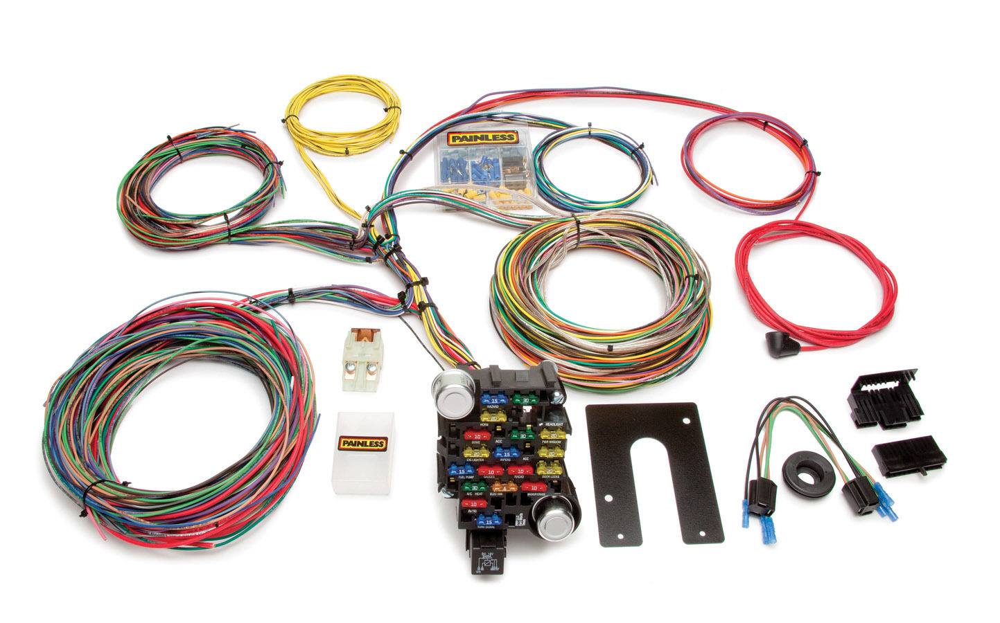 Painless Wiring 10202 Car Wiring Harness, Classic-Plus Customizable, Complete, 28 Circuit, Universal, Kit