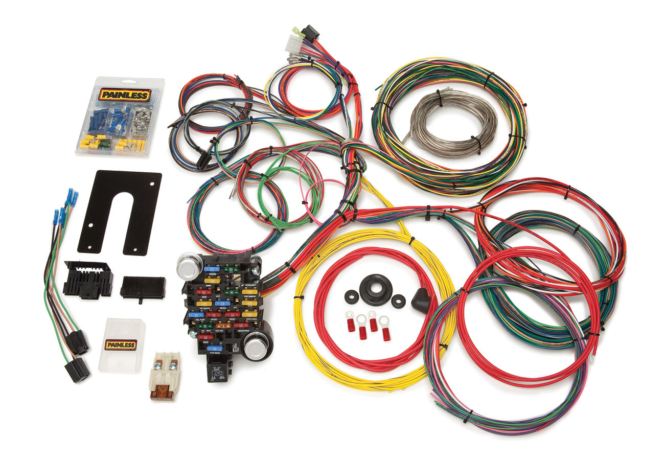Painless Wiring 10203 Car Wiring Harness, Classic-Plus Customizable Pickup, Complete, 28 Circuit, Universal, Kit