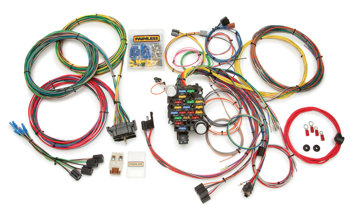 Painless Wiring 10206 Car Wiring Harness, Classic-Plus Customizable, Complete, 28 Circuit, GM Fullsize Truck 1967-72, Kit