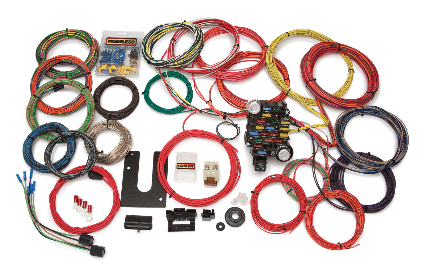 Painless Wiring 10220 Car Wiring Harness, Classic-Plus Customizable Trunk Mount, Complete, 28 Circuit, Universal, Kit