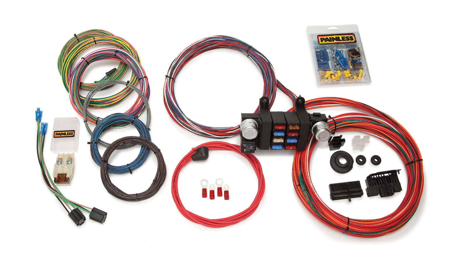Painless Wiring 10308 Car Wiring Harness, Customizable, Complete, 18 Circuit, Universal, Kit