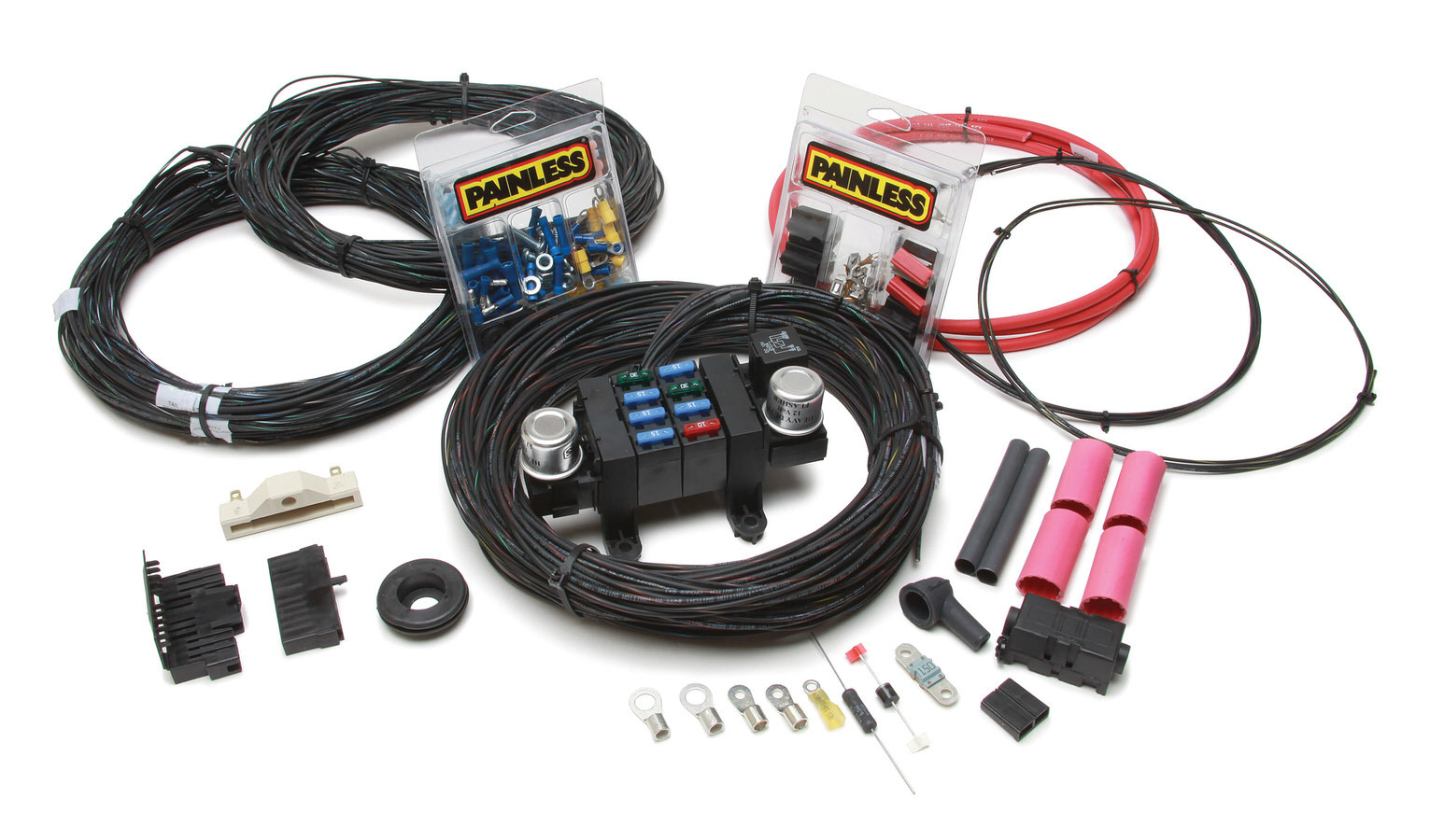 Painless Wiring 10309 Car Wiring Harness, Customizable, Complete, 17 Circuit, Universal, Kit