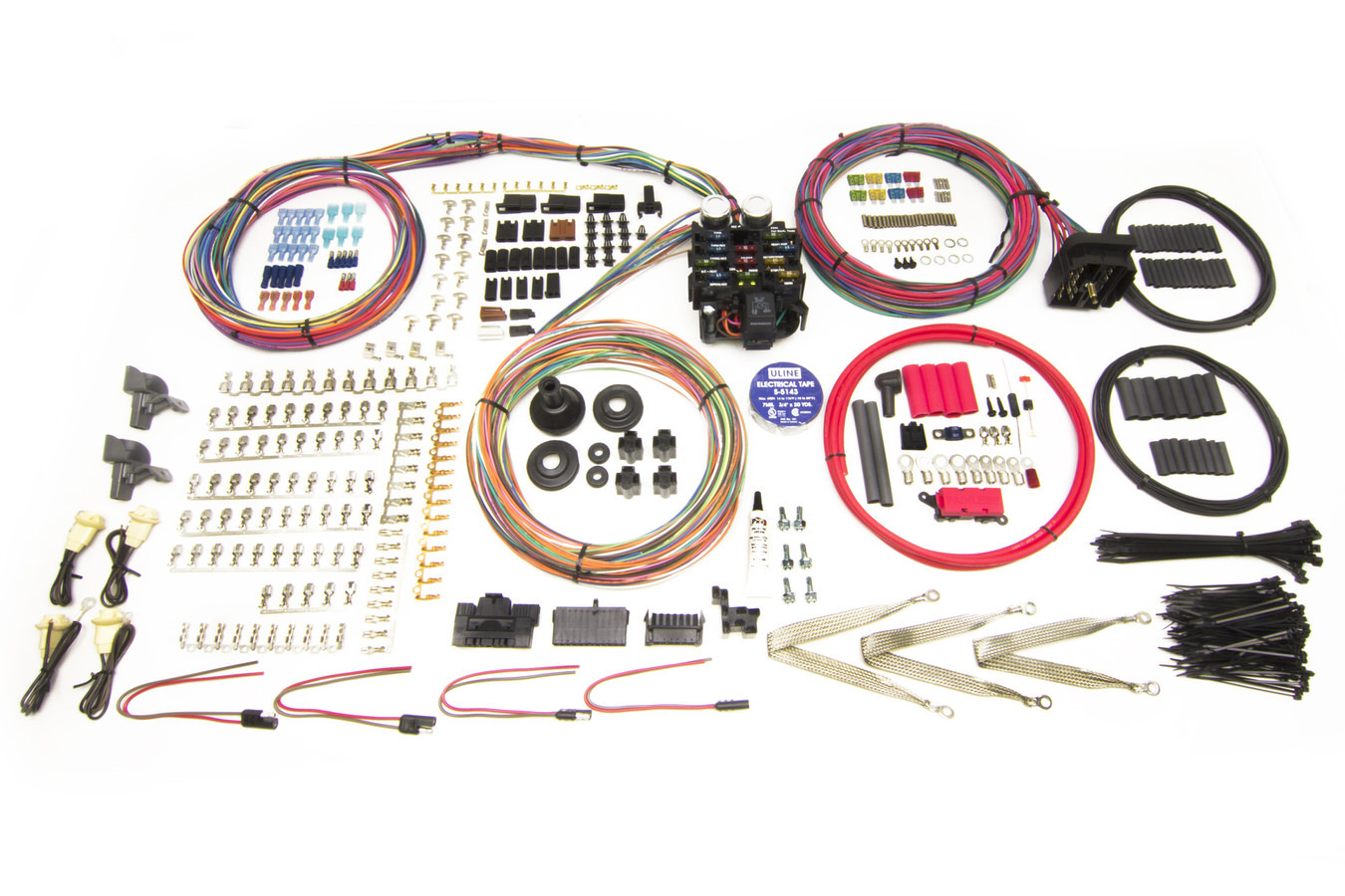 Painless Wiring 10403 Car Wiring Harness, Pro Series, Customizable, 23 Circuit, Bulkhead Firewall Pass-Through, In Column Key, GM, Kit