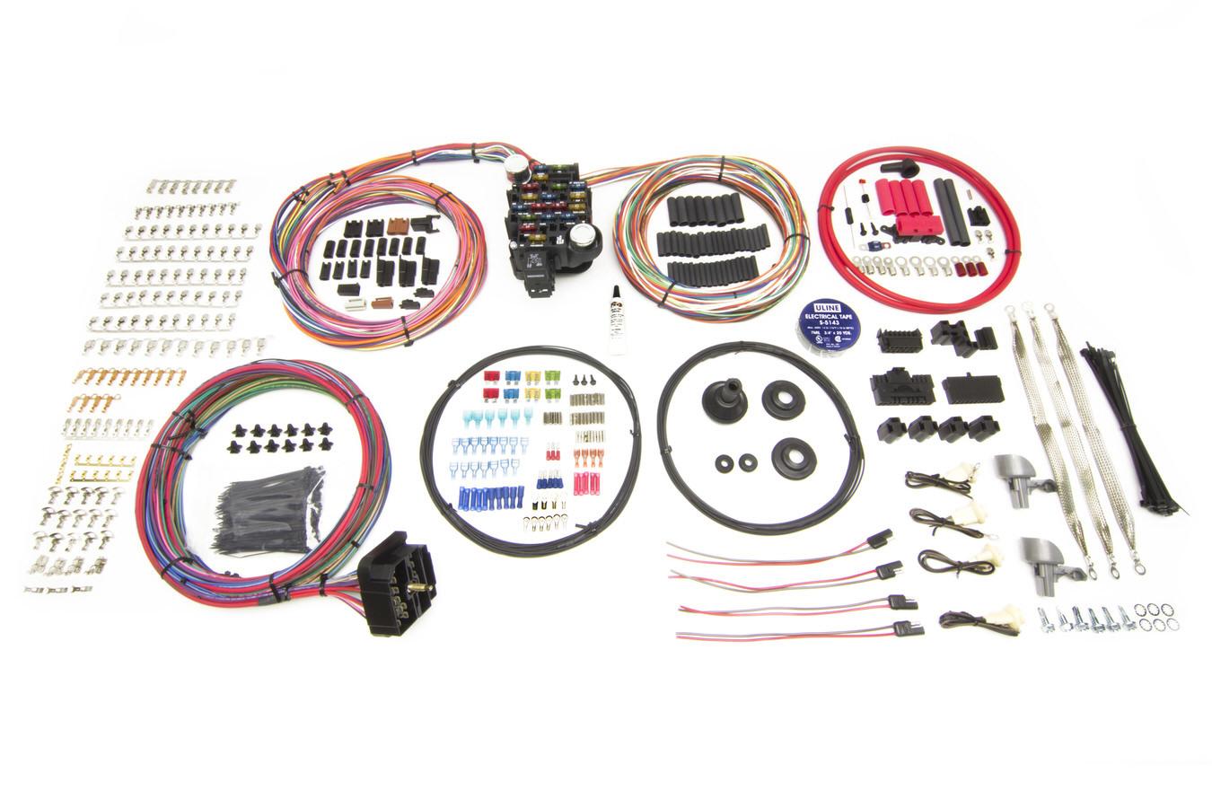 Painless Wiring 10413 Car Wiring Harness, Pro Series, Customizable, 25 Circuit, Bulkhead Firewall Pass-Through, In Column Key, GM, Kit