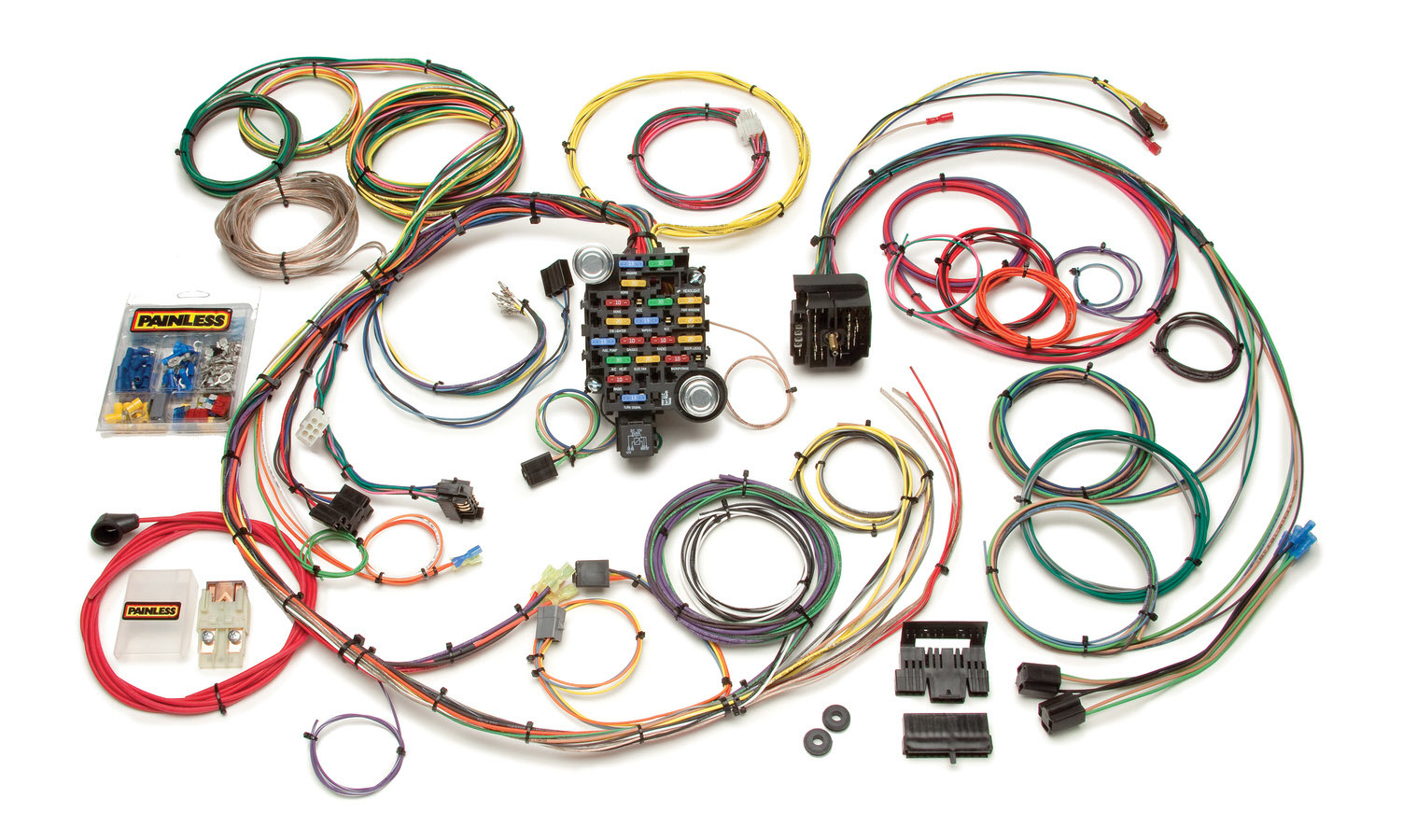 Painless Wiring 20101 Car Wiring Harness, Customizable, Complete, 24 Circuit, GM F-Body 1967-68, Kit