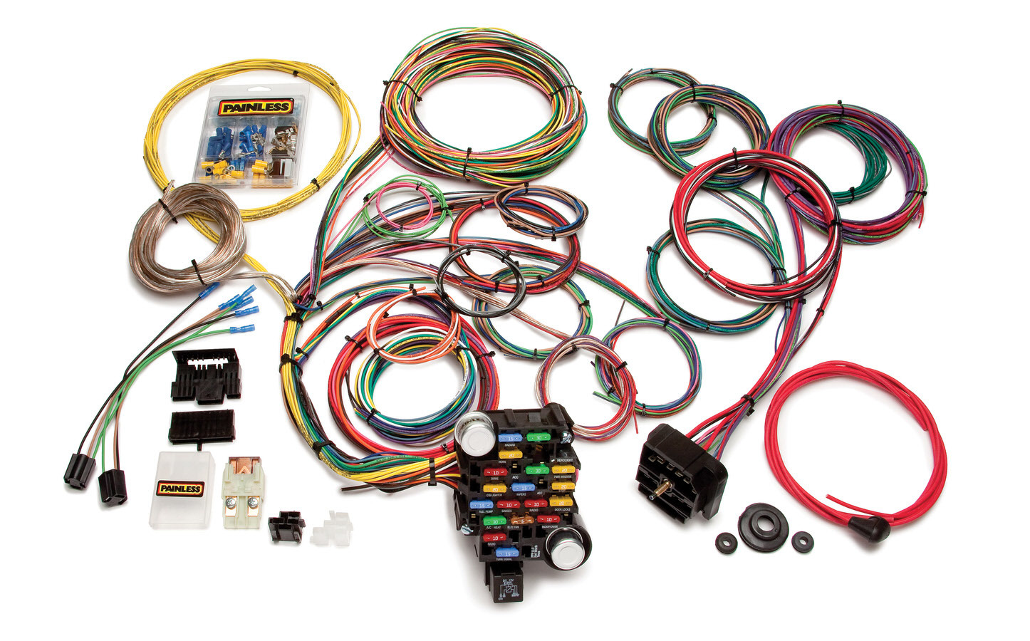 Painless Wiring 20104 Car Wiring Harness, Classic-Plus Customizable Muscle Car, Complete, 28 Circuit, Universal, Kit